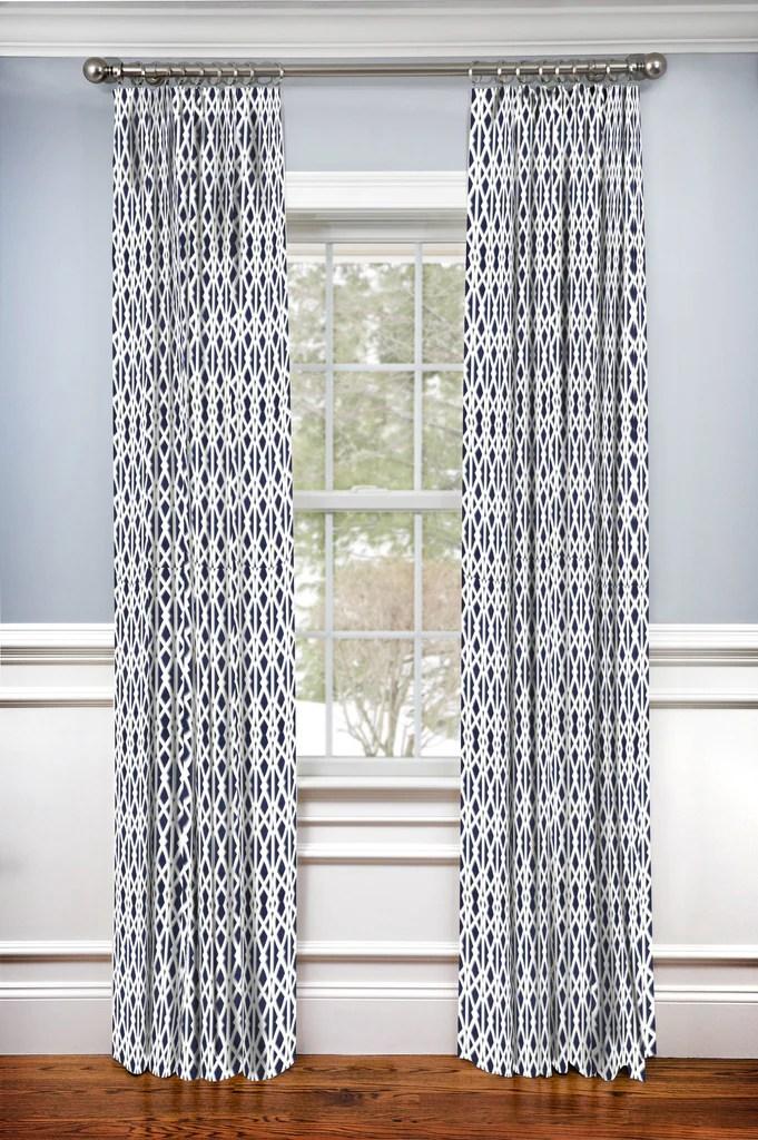custom drapery panel elton navy