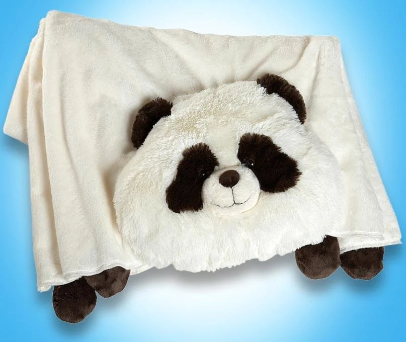 my pillow pets panda plush blanket