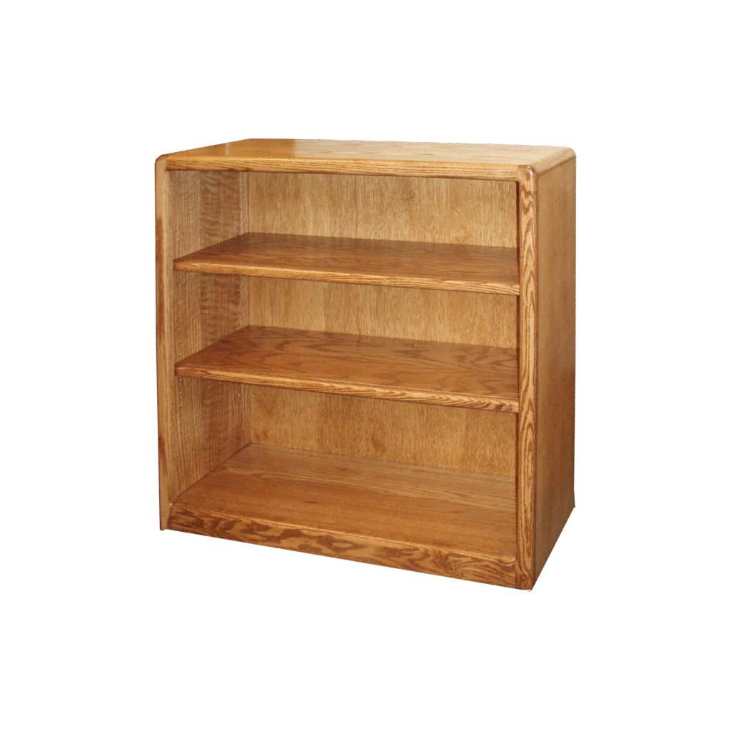 Od O C3636 Contemporary Oak Bookcase 36 W X 12 D X 36 H