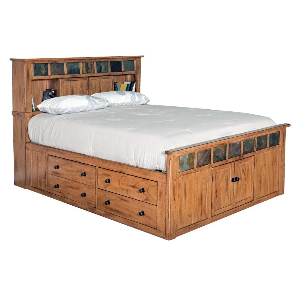 Sd 2334ro Sq Sedona Rustic Petite Storage Bed Queen Size