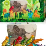 Dinosaur Toys For Boys And Girls With Storage Box 12 Large 6 Inch To 3 Bees And Me