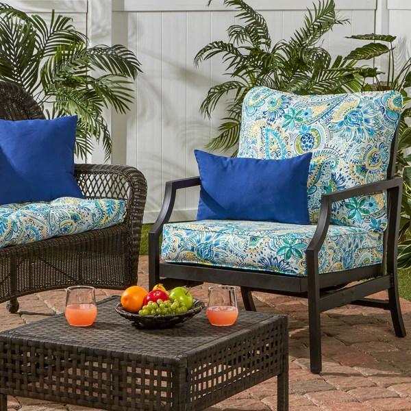 Coastal Collection Outdoor Deep Seat Cushion Set