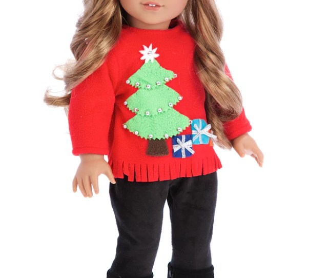 Christmas Sweater Doll Clothes For  Inch Dolls  Piece Doll Outfit Red