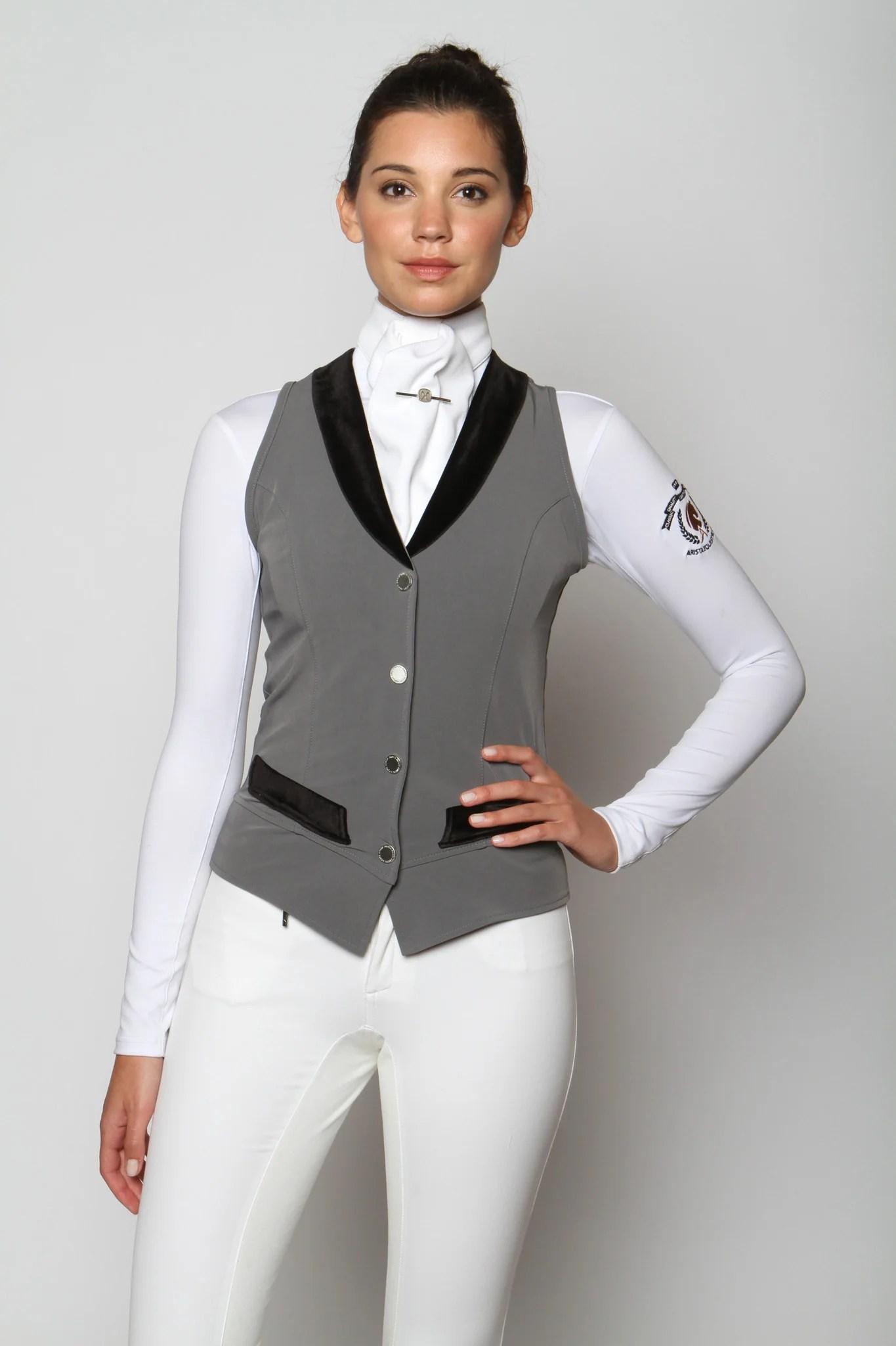 Arista Modern Dressage Vest Black Grey Amp Navy Top