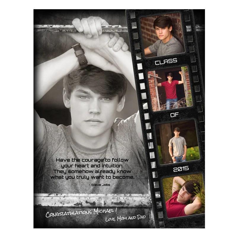 Senior Yearbook Ads For Photoshop Film Strip Grunge AsheDesign