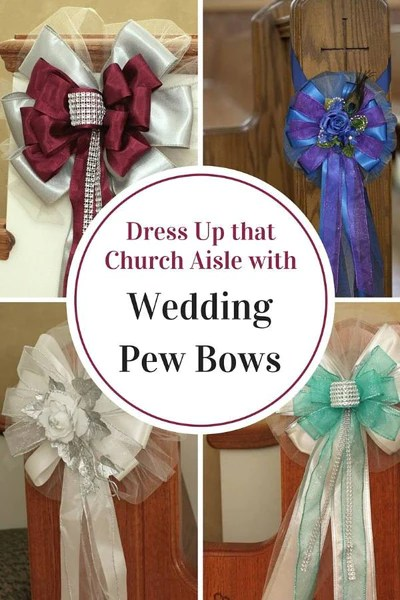 Dress Up That Aisle With Wedding Pew Bows Package