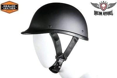 9846636d6b0 Flat Black Jockey Novelty Motorcycle Motorbike Helmet Not Dot