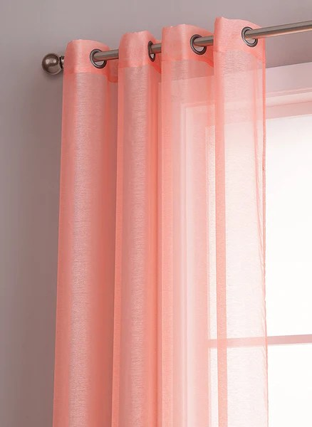 Warm Home Designs Pink Coral Sheer Curtains Amp Window Scarf Valances