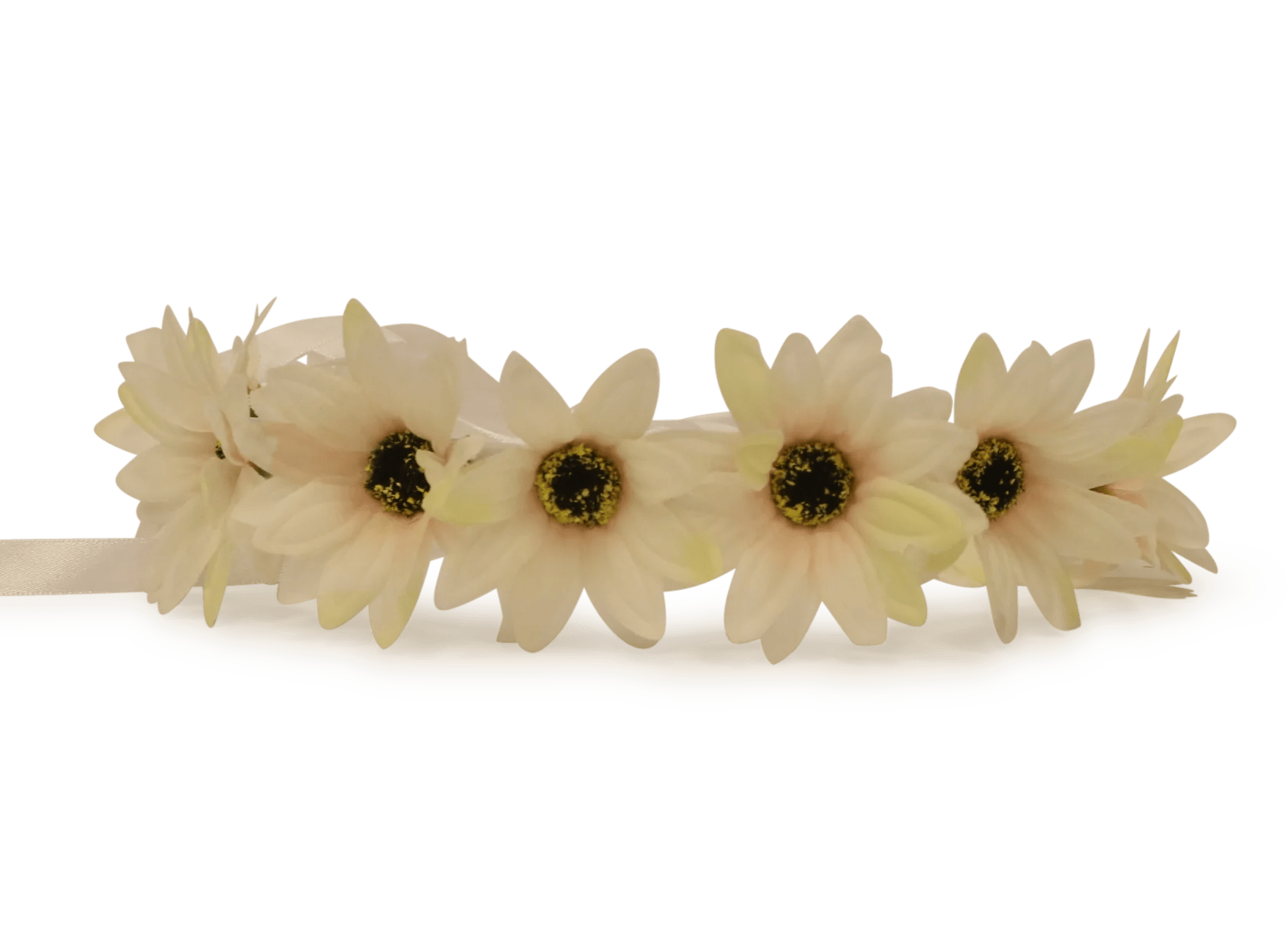 drawn yellow flower crown transparent