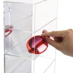 Ikee Design Acrylic Mirror Backed 5 Shelves Eyewear Display