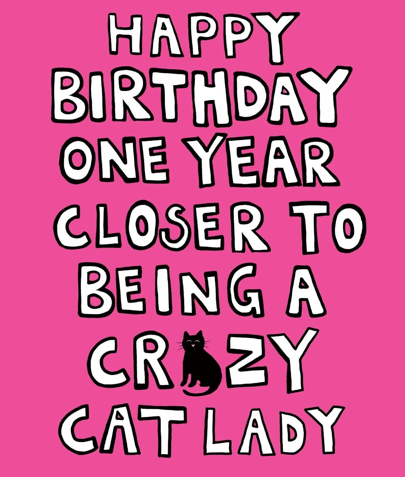 Crazy Cat Lady Birthday Card Purrfect Cat Gifts