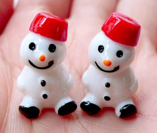 D Miniature Snowman Cabochons Christmas Fairy Garden Diy Mini Christmas Ornaments Christmas Party