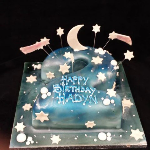 2nd Birthday Stars Numbered Birthday Cake Celticcakes Com