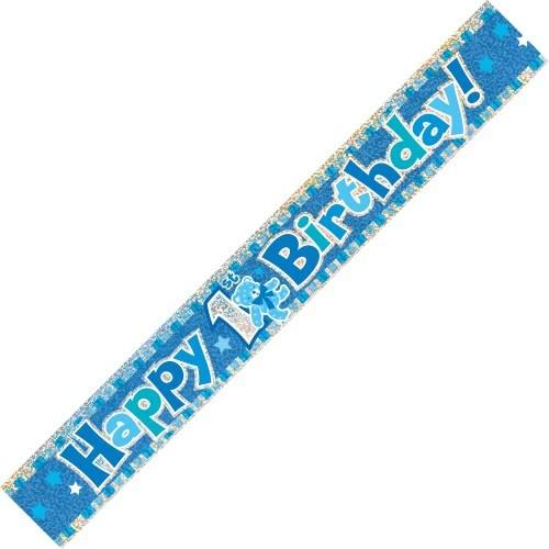 Happy 1st Birthday Banner Boy Everything Party