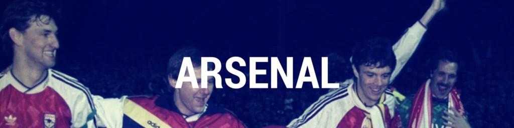 Vintage Arsenal football shirts