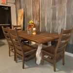 Alma Dining Table Reclaimed Wooden Top Distressed White Base Rustic Red Door Co