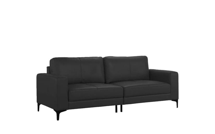 Sienna Mid Century Leather Match Sofa