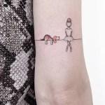 30 Cute Small Simple Dog Tattoo Ideas For Women Animal Lovers Mybodiart