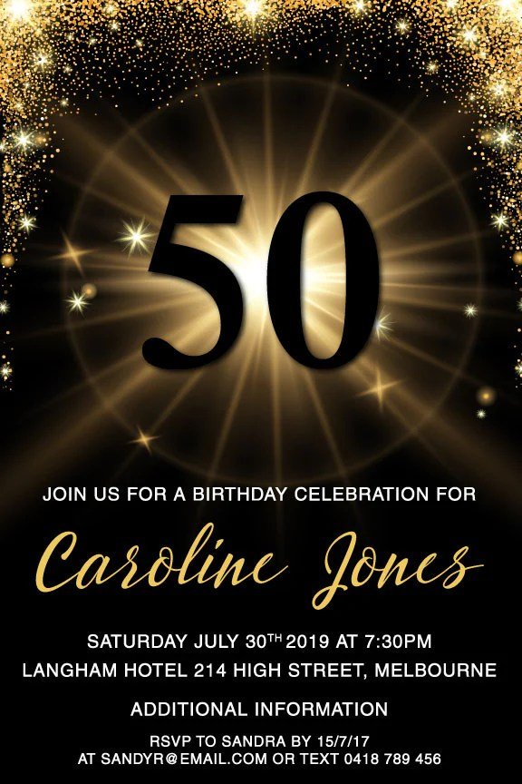 personalised birthday invitations for