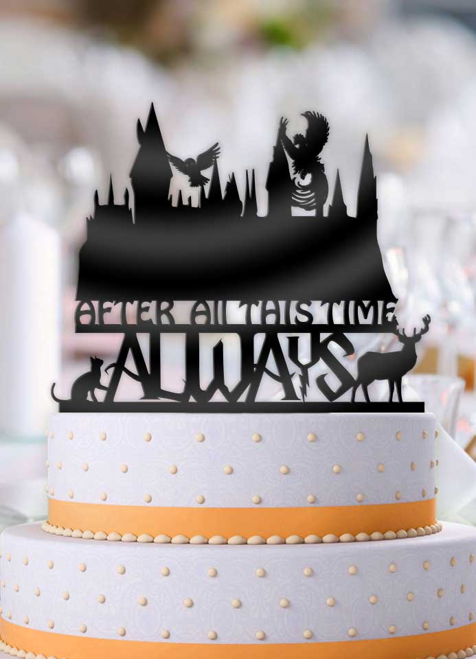 Harry Potter Hogwarts Castle After All This Time Always Scene     Harry Potter Hogwarts Castle After All This Time Always Scene Wedding Cake  Topper   Bee3dgifts