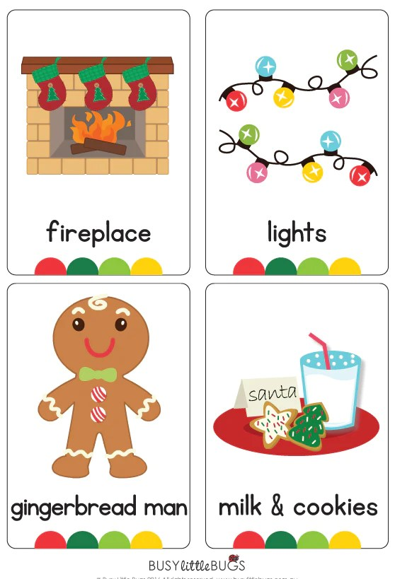 Christmas Flash Cards Christmas Lights Card And Decore