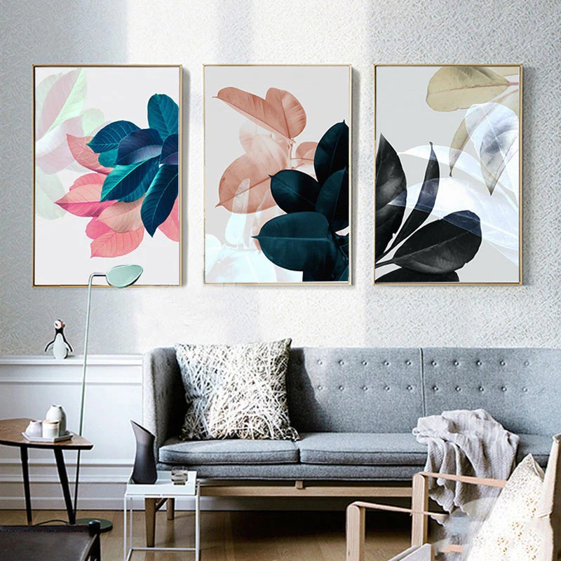 Nordic Art Paintings Wall Pictures For Living Room Posters Plants Leav Elleseal