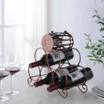Arlington Countertop Wine Rack Brushed Copper Metal 5 Bottle Holders Transitional Pilaster Designs