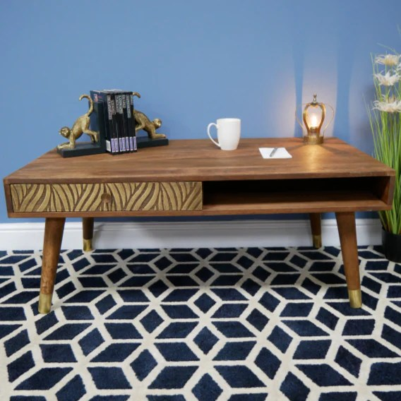 sinatra 50 s retro wood coffee table 110 x 61 x 45cm