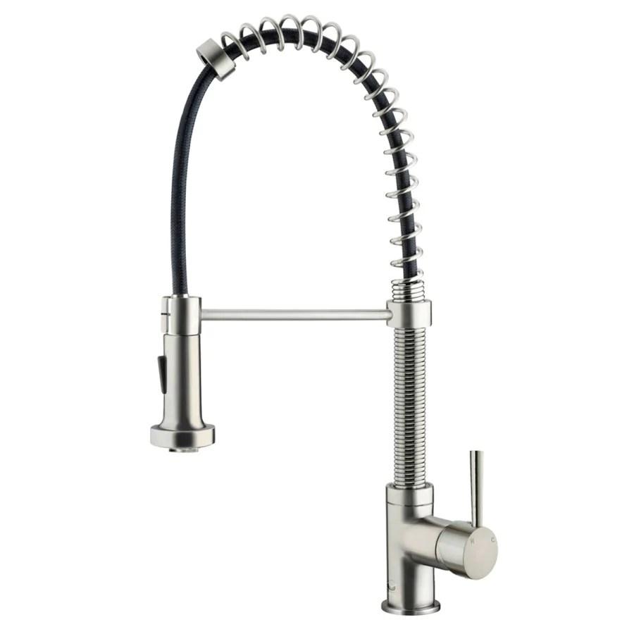 vigo edison stainless steel pull down spray kitchen faucet