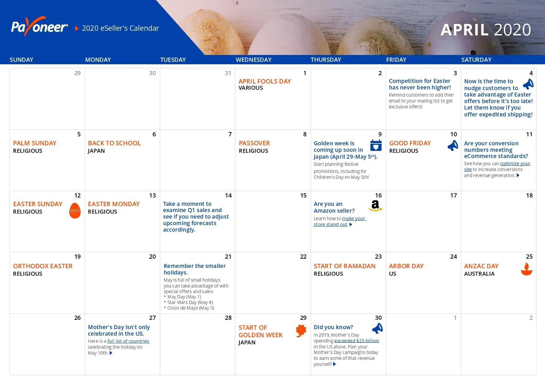 Shopify eCommerce Calendar - April