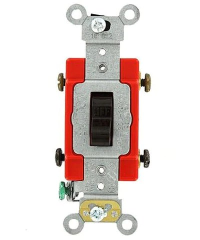 20 Amp, Toggle DoublePole AC Quiet Switch, 120277 Volt