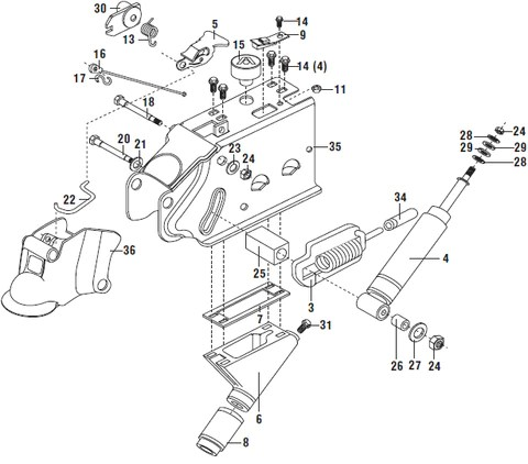 Atwood Hydraulic Brake Actuator Parts List and Schematic – Pacific Trailers
