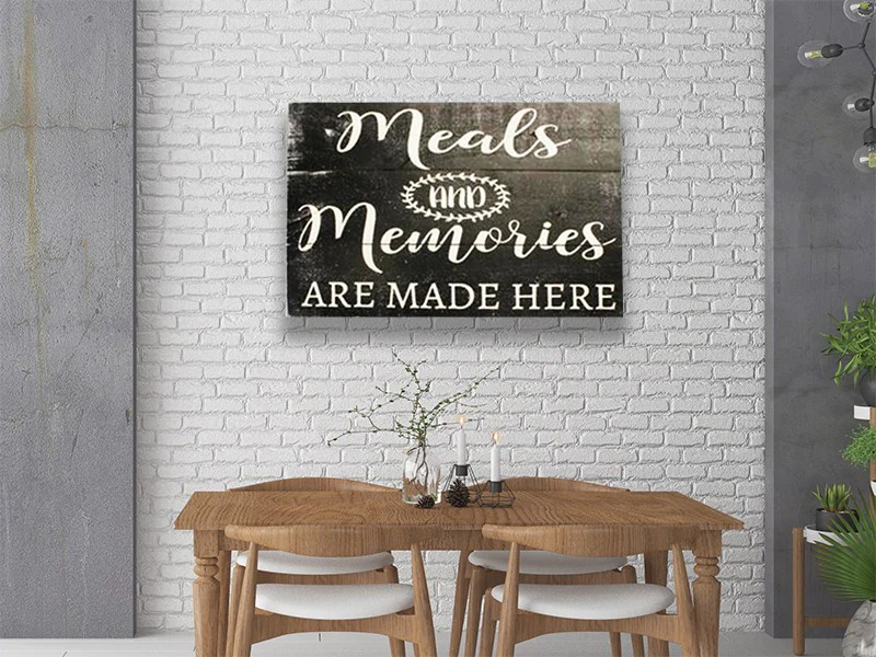 Meals And Memories Kitchen Wall Sign Rusticly Inspired Signs