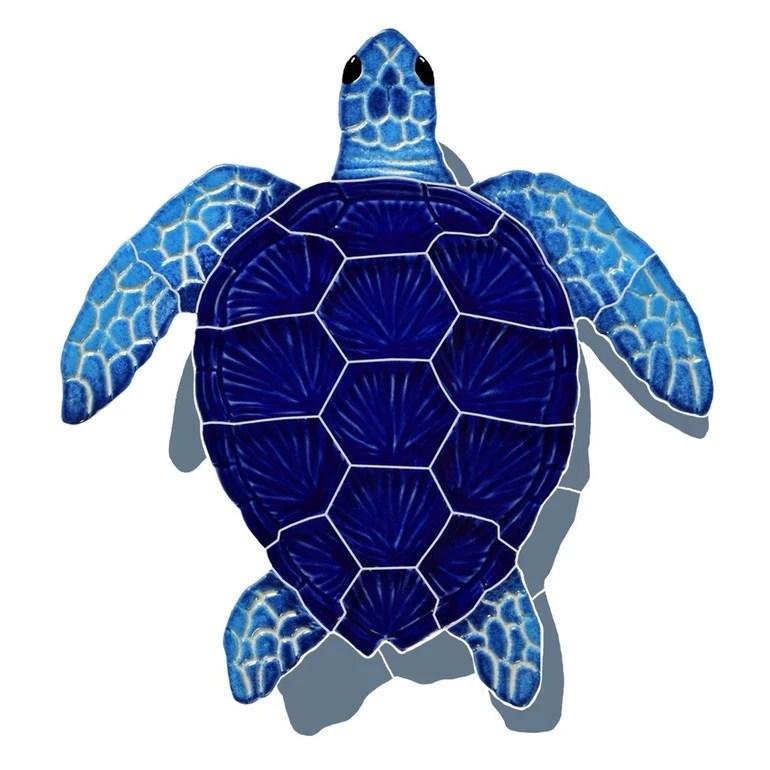 https www aquablumosaics com products loggerhead turtle blue w shadow pool mosaic