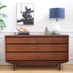 Refinished Mid Century Modern Vintage Dresser By Stanley No