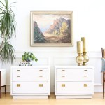 Mid Century Modern White Lacquer Vintage Drexel Lacquered