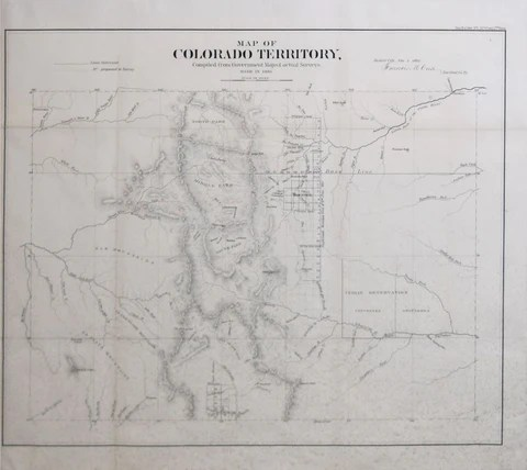 Francis M  Case  Map of Colorado Territory  Compiled from Government     Francis M  Case  Map of Colorado Territory  Compiled from Government Maps    actual