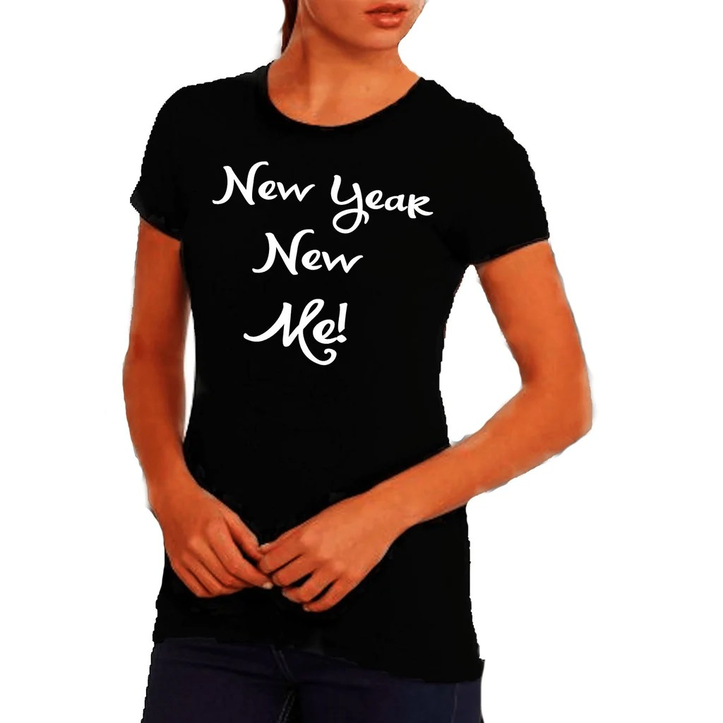 New Year New Me T Shirt     Zoe and Eve New Year Me T Shirt Xl   Black T Shrts