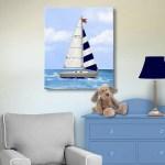 Nautical Nursery Decor Canvas Wall Art For Boys Muralmax Interiors