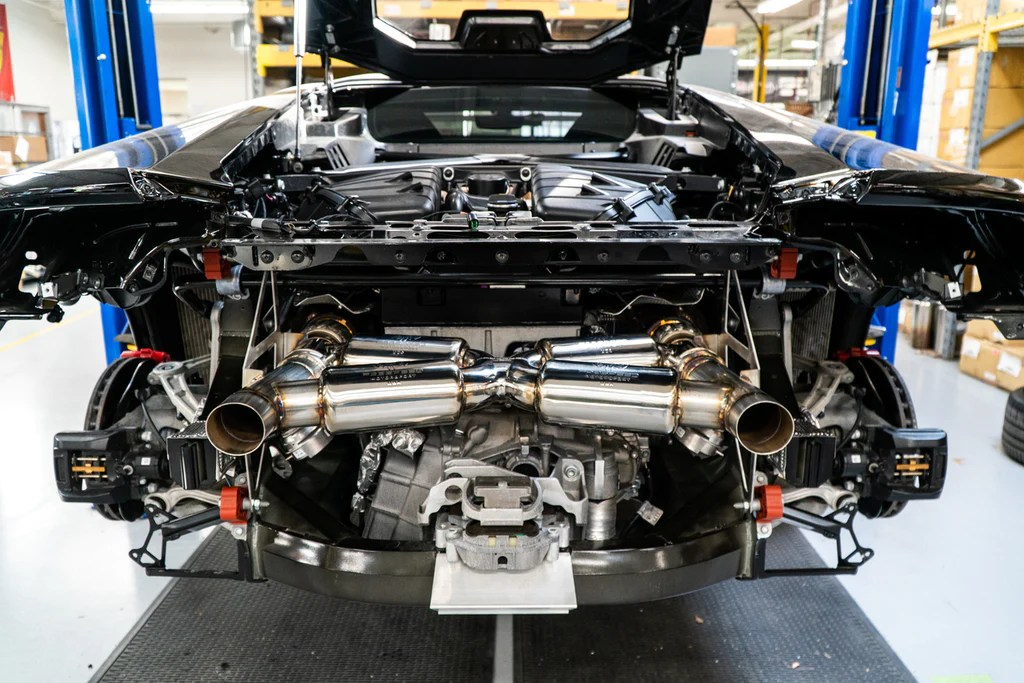 lamborghini huracan performante valvetronic supersport x pipe exhaust system from fabspeed