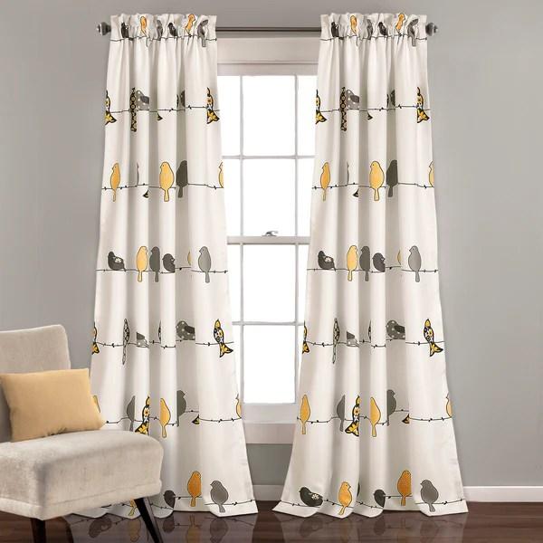 Rowley Birds Room Darkening Window Curtain Set Lush Decor WwwLushDecorcom