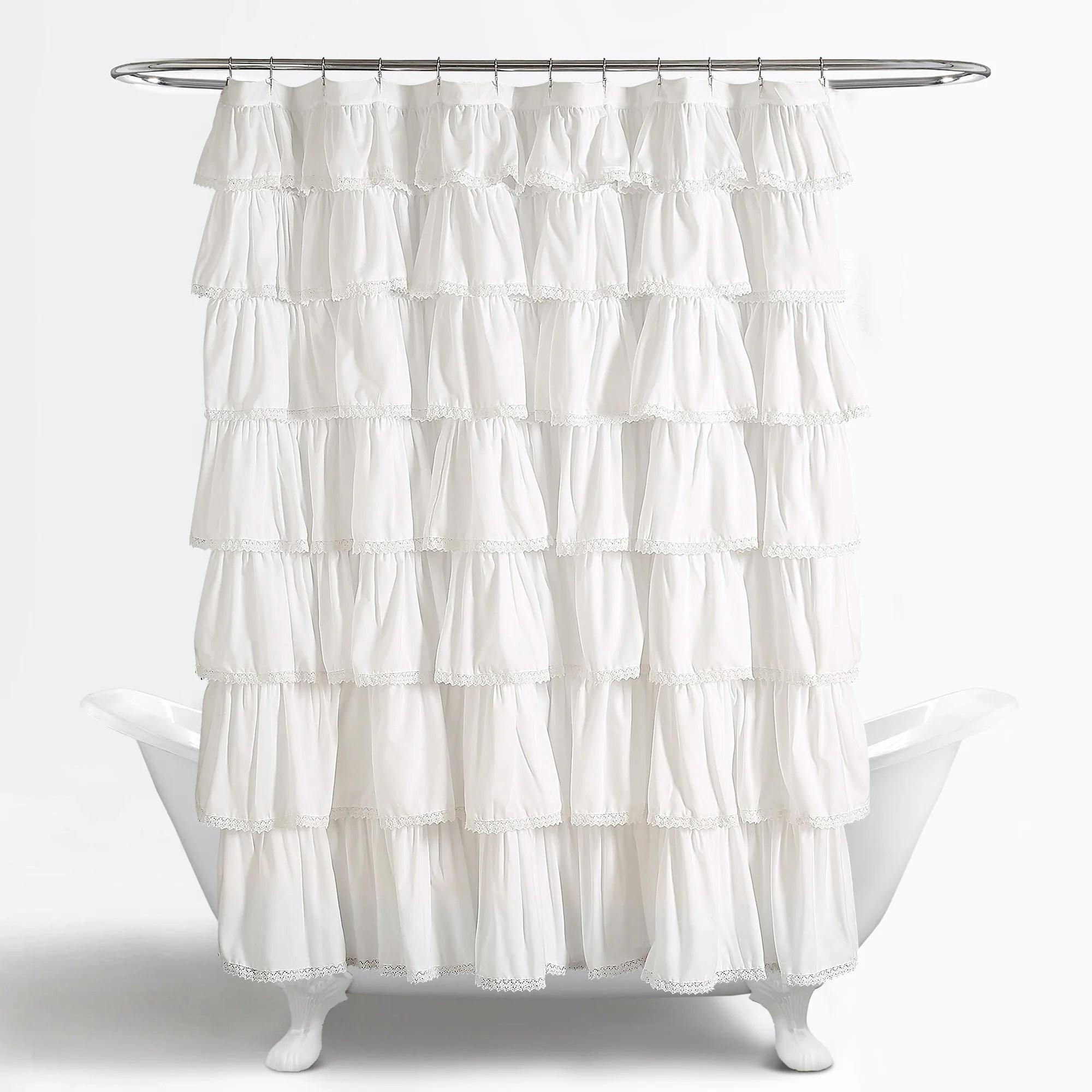 Lace Ruffle Shower Curtain Lush Decor Www Lushdecor Com Lushdecor