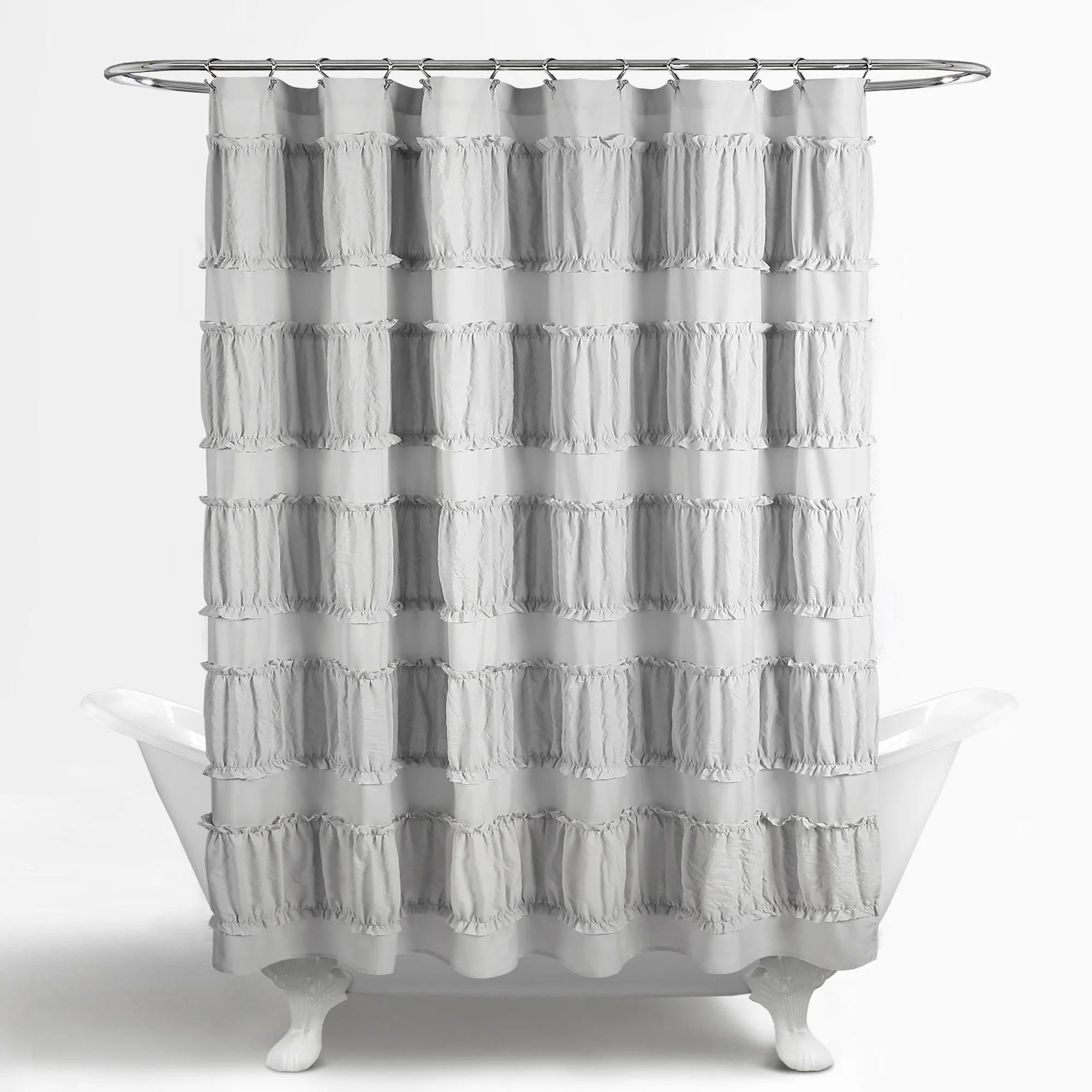 Nova Ruffle Shower Curtain Lush Decor Www Lushdecor Com Lushdecor