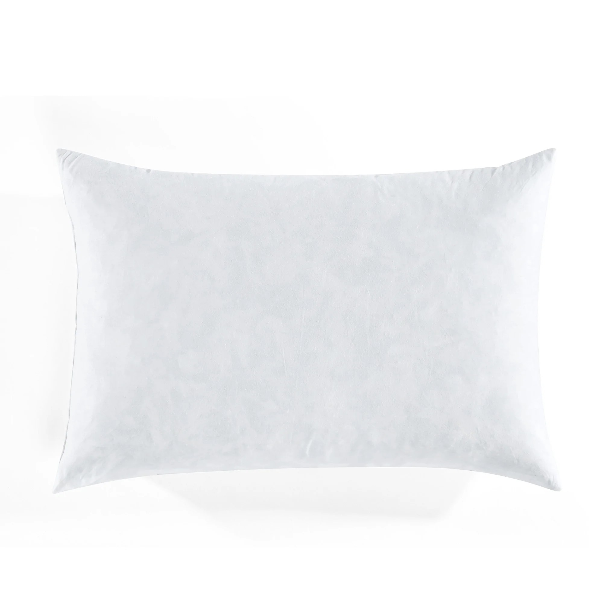 feather down in cotton cover decorative pillow insert 14 x 21 white