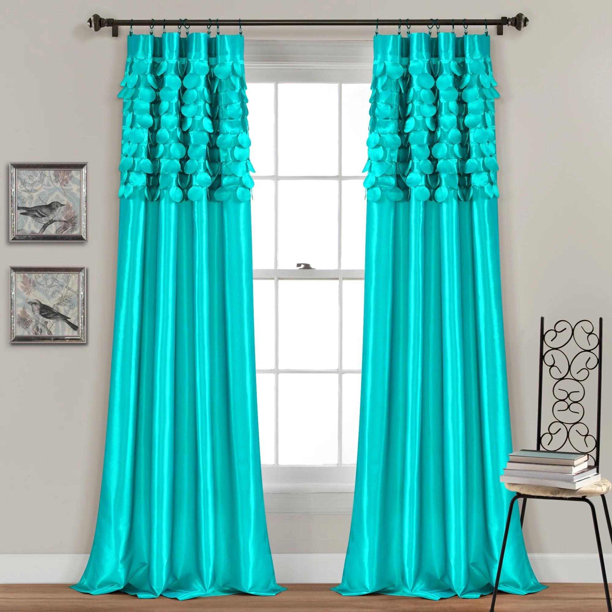 circle dream window curtain set 84 x 54 turquoise