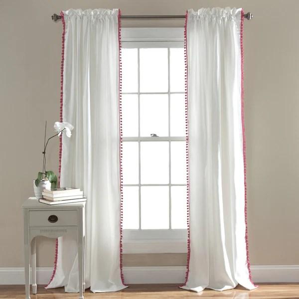 Pom Pom Window Curtain Lush Decor Wwwlushdecorcom