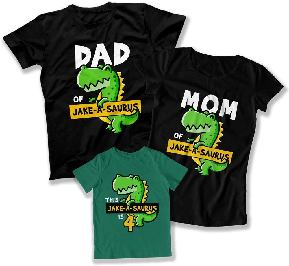 Kids Dinosaur Birthday Shirt 4th Birthday Party Fourth Birthday Gift Teepinch