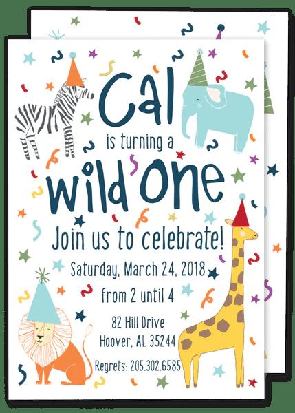 wild one birthday invitation gilm press