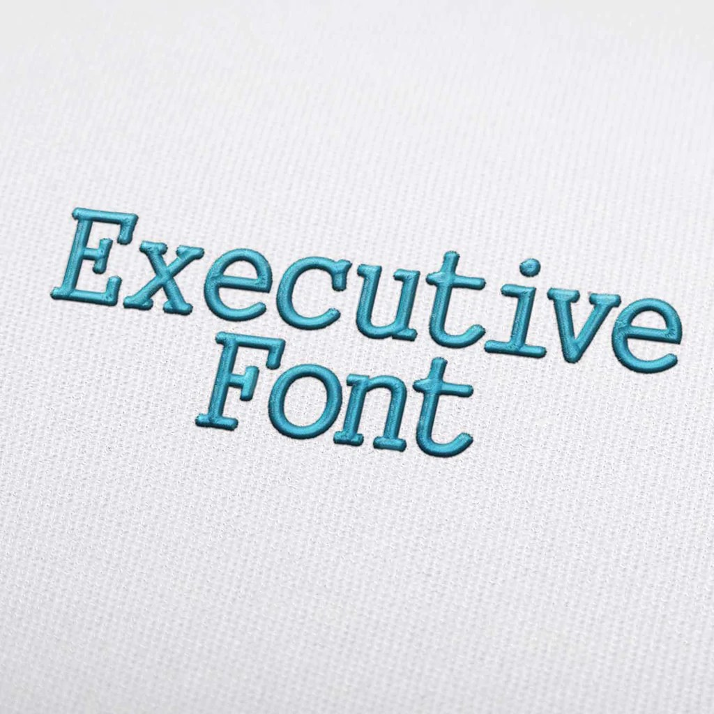 Download Executive Embroidery Font Set Download — EmbroideryDownload