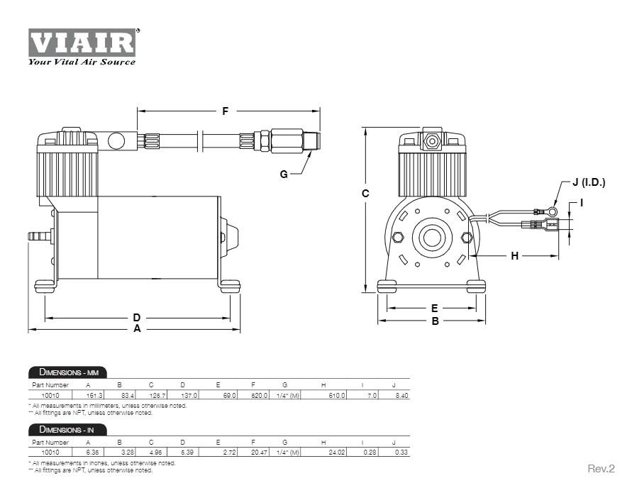 Viair 100C Silver Air Compressor– HornBlasters